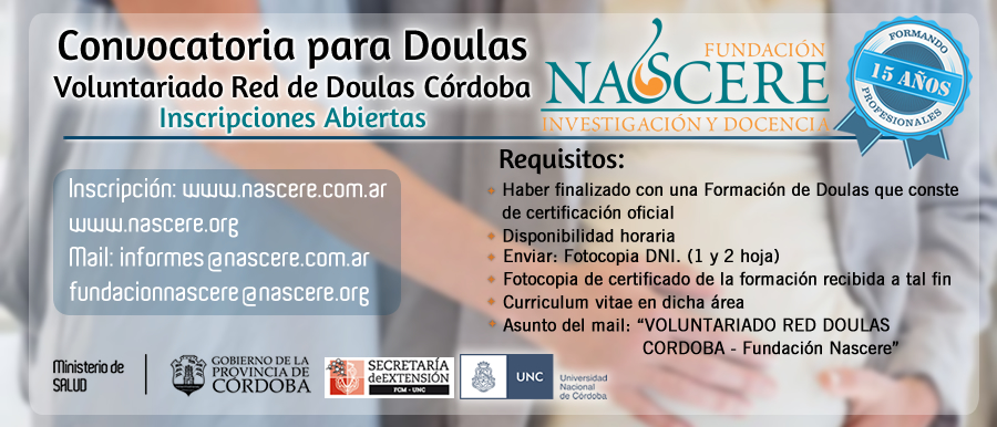 Convocatoria Voluntariado Red de Doulas Córdoba